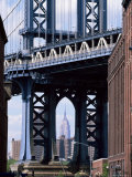 Empire State Building Seen Through the Manhattan Bridge, Brooklyn, New York, New York State, USA Photographic Print by Yadid Levy