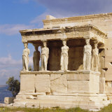 Porch of the Caryatids with Figures of the Six Maidens, Erechtheion, Acropolis, Athens, Greece Fotografisk tryk af Roy Rainford