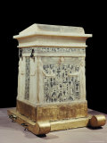 Alabaster Canopic Shrine, from the Tomb of the Pharaoh Tutankhamun, Thebes, Egypt Photographic Print by Robert Harding