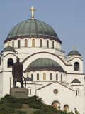 St. Sava Orthodox Church Dating from 1935, Serbia, Europe Photographic Print by Christian Kober