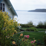 View of Puget Sound, Vashon Island, Washington State, USA Photographic Print by Aaron McCoy