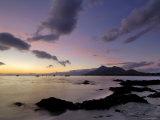 Amanhecer na baía Clew e montanha Croagh Patrick, Connacht, República da Irlanda, Eire  Impressão fotográfica por Gary Cook
