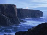 Eshaness Basalt Cliffs at Dusk, Eshaness, Northmavine, Shetland Islands, Scotland Photographic Print by Patrick Dieudonne