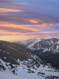 Orange Clouds at Dawn Above Longs Peak, Rocky Mountain National Park, Colorado Photographic Print by James Hager