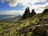 Old Man of Storr, Overlooking Loch Leathan and Raasay Sound, Trotternish, Isle of Skye, Scotland Photographic Print by Patrick Dieudonne