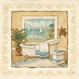 Ocean View Bath I Posters par Charlene Winter Olson