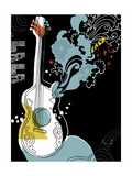 Psychedelic Guitar Photo