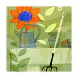 Gardening in Spring Print