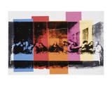 La Cène (détail)|Detail of the Last Supper, vers 1986 Affiche par Andy Warhol