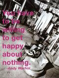 Bli lykkelig Poster av Billy Name