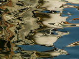 Abstract Reflections Formed by Rippling Water in a Venetian Canal, Venice, Italy Fotografie-Druck von Todd Gipstein