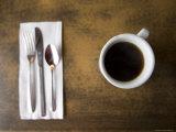 Cup of Coffee on a Diner Table Fotografisk tryk af John Burcham