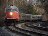 Commuter Train Curves Homeward, Silver Spring, Maryland Photographic Print by Stephen St. John