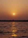 Indian Sunrise over the Holy Ganges River the Ganga at Varanassi Photographic Print by Jason Edwards