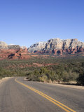Road in Sedona Arizona, USA Fotografisk tryk af John Burcham