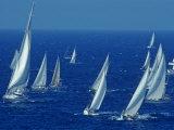 Sailing Off the Island of Antigua in the Caribbean Fotografisk tryk af Kenneth Garrett