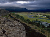 Thingvellir, Iceland, Site of the Original Parliament Reproduction photographique par  Brimberg & Coulson