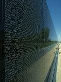 Vietnam Memorial with Washington Monument in Background, Washington, D.C. Photographic Print by Kenneth Garrett