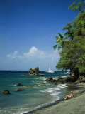Sunbathing on the Beach in St. Lucia Photographic Print by Anne Keiser