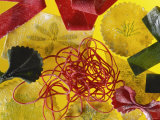 Home-made Noodles in Various Colours and Shapes Photographic Print by Ulrike Koeb
