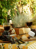 Buffet with Cheese and Grapes Photographic Print by Roland Krieg