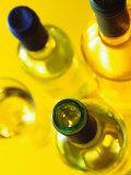 Three White Wine Bottles and a Wine Glass Photographic Print by Ulrike Koeb