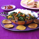 Lamb Curry with Spinach and Rice Photographic Print by Frank Wieder