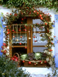 Autumnal Window Decoration with Apples and Cabbage Photographic Print by Roland Krieg