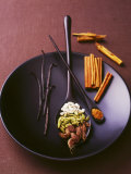 Still Life with Spices on a Black Plate Fotografie-Druck von Armin Zogbaum