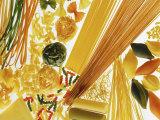 Various Types of Pasta Fotografisk tryk af Karin Iden