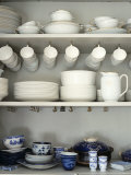 Crockery on Shelves Photographic Print by Sara Danielsson