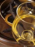 A Glass of Vin de Paille (Sweet Wine, France) Fotografie-Druck von Jean-charles Vaillant