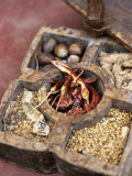 Wooden Spice Box from South India Fotografie-Druck von Jürg Waldmeier