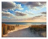 Coucher de soleil sur la plage Art par Daniel Pollera