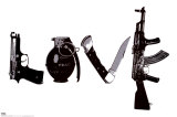 Love (Weapons) Black & White Steez Poster Print by  Steez