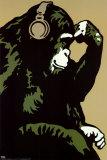 Macaco Pensador Pôsters por  Steez