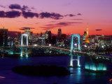 Evening View of Rainbow Bridge Photographic Print
