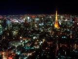 Night View of Tokyo Tower Fotografie-Druck