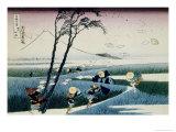 36 Views of Mount Fuji, no. 18: Ejiri in the Suruga Province Giclée-Druck von Katsushika Hokusai