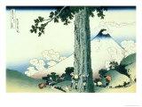 36 Views of Mount Fuji, no. 16: Mishima Pass in Kai Province Giclee Print by Katsushika Hokusai
