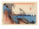 The 53 Stations of the Tokaido, Station 16: Yui-shuku, Shizuoka Prefecture Giclee Print by Ando Hiroshige