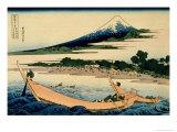 36 Views of Mount Fuji, no. 28: Shore of Tago Bay, Ejiri at Tokaido Impressão giclée por Katsushika Hokusai