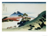 36 Views of Mount Fuji, no. 9: Inume Pass in the Kai Province Gicléedruk van Katsushika Hokusai