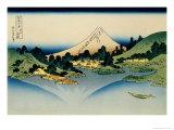 36 Views of Mount Fuji, no. 35: Reflected in Lake Kawaguchi, Seen from the Misaka Pass, Kai Provinc Giclee Print by Katsushika Hokusai
