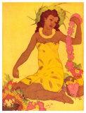 Lei Maker, Hawaii Giclee-trykk av John Kelly