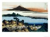 36 Views of Mount Fuji, no. 41: Dawn at Isawa in the Kai Province Giclee Print by Katsushika Hokusai