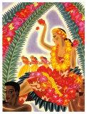 Hula and Lei Giclee-trykk av Frank Mcintosh