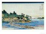 36 Views of Mount Fuji, no. 27: Enoshima in the Sagami Province Giclée-Druck von Katsushika Hokusai