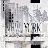New York, WTC Why Affischer av Marie Louise Oudkerk