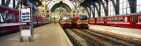 Trains at a Railroad Station, the Railway Station of Antwerp, Antwerp, Belgium Fotografisk trykk av Panoramic Images,